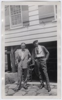 Photograph of Water White and James Weldon Johnson at Five Acres