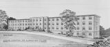 Drawing of a women's dormitory at Alabama A & M College in Normal, Alabama.