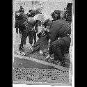 Marcher arrested