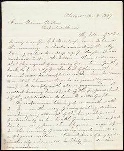Letter from James Mott, Philad[elphi]a, Penn., to Anne Warren Weston, 12 mo[nth] 8 [day] 1837