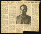 """""""Lonnie Elder Talks of Theater in Black and White"""". The New York Times, February 8, 1969."""