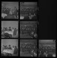 Set of negatives by Clinton Wright including Cosmetique installation, Tony McCormick, Checkmates at Doolittle, Edna Ford, and Moulin Rouge Barber Shop, 1971