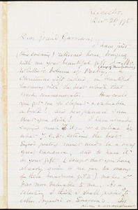 Letter from Samuel May, Jr., Leicester, [Mass.], to William Lloyd Garrison, Dec[embe]r 29 / [18]75