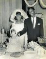 African American bride and groom, portrait