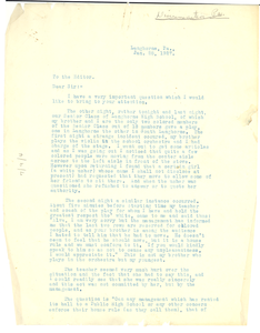 Letter from Alva B. Johnson to the editor of The Crisis