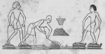 Representations of the former and contemporary methods of creating bellows and siphons