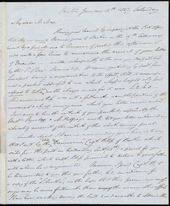 Letter from John Bishop Estlin, Bristol, to Samuel May, January 16th, 1847