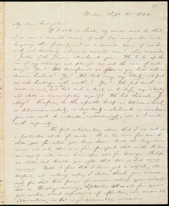 Letter from William Lloyd Garrison, Boston, [Mass.], to Samuel Joseph May and Lucretia Flagge Coffin May, Sept. 15, 1834