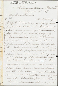 Letter from Sarah Pugh, Germantown, Philad[elphi]a, to Elizabeth Pease Nichol, April 15, [18]67