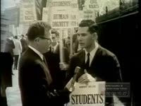 Students Demonstrate for Civil Rights in Front of White House Students Comment on Plan (No Date)