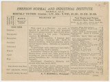 Tuition receipt form for the Emerson Normal and Industrial Institute in Mobile, Alabama.