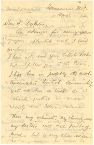 Letter from R. B. Williams to W. E. B. Du Bois