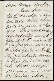Letter to] Anne Warren Weston, Dear friend [manuscript