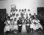 Group portrait of members of Faith Lodge #61 of the Order of the Eastern Star