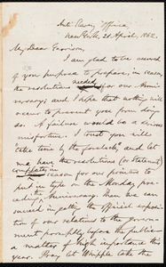 Letter from Oliver Johnson, New York, [N.Y.], to William Lloyd Garrison, 21 April, 1862