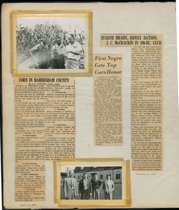 Newspaper clippings of corn farming in Habersham County, Clarkesville, Habersham County, Georgia, 1950