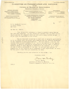 Letter from Committee on Conservation and Advance of the Council of Boards of Benevolence, Methodist Episcopal Church to W. E. B. Du Bois