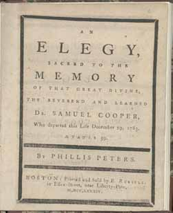 An Elegy, Sacred to the Memory of that Great Divine, the Reverend and the Learned Dr. Samuel Cooper