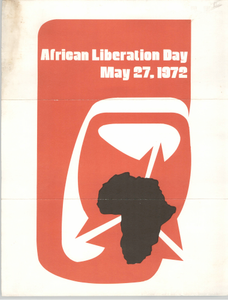 """""""African Liberation Day, May 27, 1972"""" Pamphlet"""