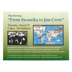"""From Swastika to Jim Crow"" Film flyer, 2010"