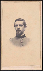 [Lieutenant Colonel John B. Johnson of Co. E, 11th Pennsylvania Infantry Regiment, 3rd Regular Army Cavalry Regiment, and 6th Regular Army Cavalry Regiment in uniform]