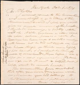 Letter from Joshua Leavitt, New York, to Amos Augustus Phelps, Oct. 6. 1834