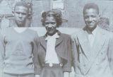 Henry, Bernice, and Arthur Dabney on Easter Sunday, ca. 1945