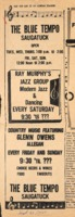 The Blue Tempo Newspaper Advertisement