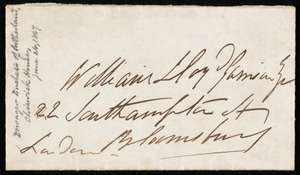 Letter from Harriet Elizabeth Georgiana Leveson-Gower, Duchess of Sutherland, Chiswick, [England], to William Lloyd Garrison, June 24th, [1867]
