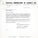 Letter to Mayor John Collins from John B Teeple of the Traing Corporation of America, Inc. with attached summary of a survey