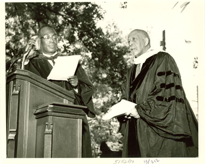 W. E. B. Du Bois and Stephen Wright, Fisk University, 1958