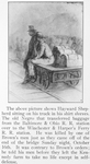 The above picture shows Hayward Shepherd sitting on his truck in his shirt sleeves; The old Negro that transferred baggage from the Baltimore He was killed by one of the Brown's men just as they came off of the end of the bridge Sunday night, October 16th; It was contrary to Brown's orders: he told his men before they left the Kennedy to take no life except in self-defense