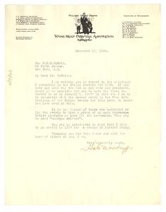 Letter from Hale Woodruff to W. E. B. Du Bois