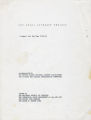Walker -- Freedom Schools (Samuel Walker Papers, 1964-1966; Archives Main Stacks, Mss 655, Box 1, Folder 9)