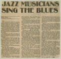 """""""Jazz Musicians Sing The Blues"""""""