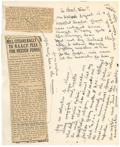 Assorted unidentified newspaper clippings with commentary by J. M. Boddy