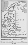 Routes through Indiana and Michigan in 1848. As traced by Lewis Falley