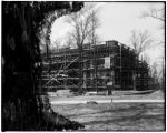 Maryland State pavilion during construction