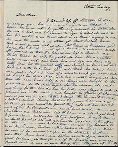 Letter from Lucia Weston, Boston, [Mass.], to Anne Warren Weston, Tuesday, [1839]
