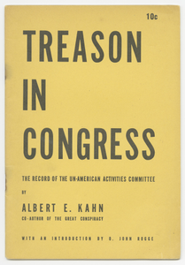 Treason in Congress: The Record of the Un-American Activities Committee