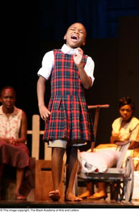 Young Performer Singing on Stage Hallelujah Gospel: The Musical