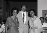 Tom Bradley with Aurelia Brooks and Yvonne Brathwaite Burke, Los Angeles, 1984