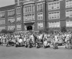 Students protesting the integration of Phillips High School in Birmingham, Alabama.