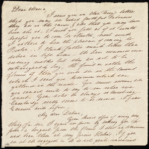 Letter from Mary Gray Chapman to Maria Weston Chapman and Deborah Weston, [183-?]