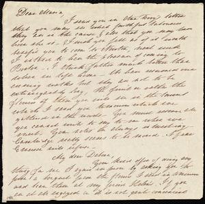 Letter from Mary Gray Chapman to Maria Weston Chapman and Deborah Weston, [183?]