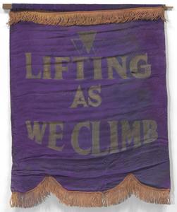 Banner with motto of the National Association of Colored Women's Clubs