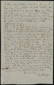Letter from Richard Davis Webb, Dublin, [Ireland], to Anne Warren Weston, Nov. 18, 1847