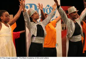 Young Performers Stretching Arms on Stage Hip Hop Broadway: The Musical