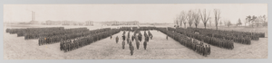 Framed panoramic photograph of 183d Brigade of the 92d Infantry Division
