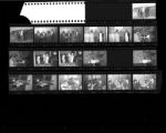 Set of negatives by Clinton Wright including beautification planners at Jo Mackey, recreation meeting at Doolittle's, Clay-Patterson fight fans, Fashionettes at Doolittle, and Sykes Recital at Zion, 1965